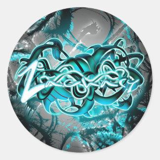 Zachary Round Sticker