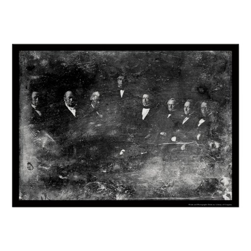 Zachary Taylor Cabinet Daguerreotype 1849 Poster