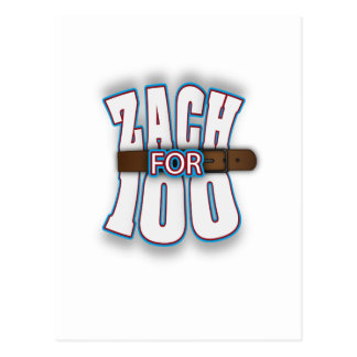 Zachfor100 Postcard