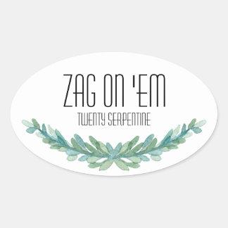 Zag On 'Em sticker