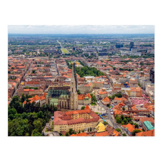 Zagreb aerial Postcard