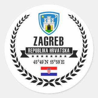 Zagreb Classic Round Sticker