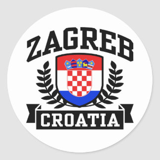 Zagreb Croatia Classic Round Sticker