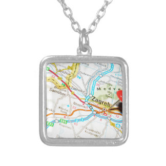 Zagreb, Croatia Silver Plated Necklace