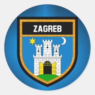 Zagreb Flag Classic Round Sticker