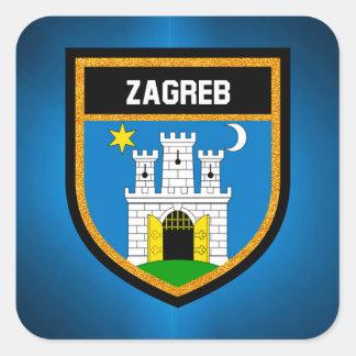 Zagreb Flag Square Sticker