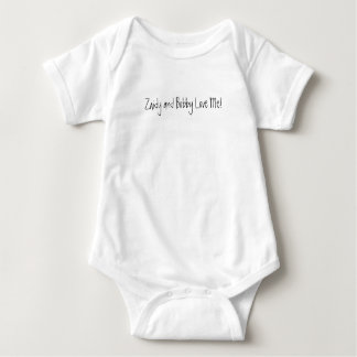 Zaidy and Bobby Love Me! Baby Bodysuit