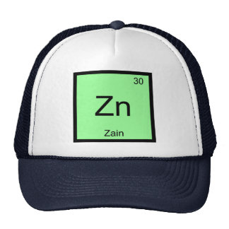 Zain Name Chemistry Element Periodic Table Hats