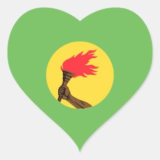 Zaire Flag Heart Sticker