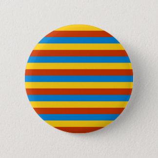 Zaire flag stripes 2 inch round button