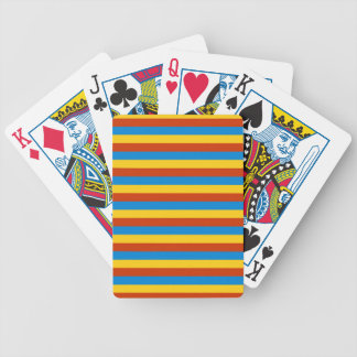 Zaire flag stripes bicycle playing cards