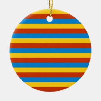 Zaire flag stripes ceramic ornament