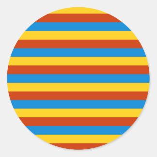 Zaire flag stripes classic round sticker