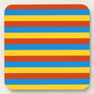 Zaire flag stripes coaster