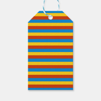 Zaire flag stripes gift tags