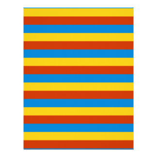Zaire flag stripes letterhead