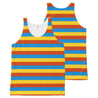 Zaire flag stripes lines All-Over-Print tank top