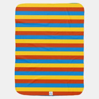 Zaire flag stripes lines baby blanket