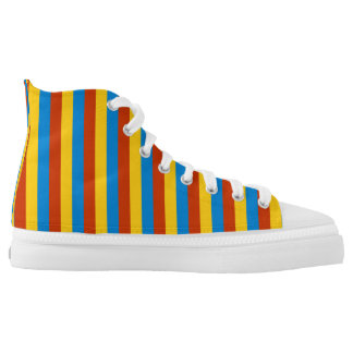 Zaire flag stripes lines high tops
