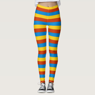 Zaire flag stripes lines leggings