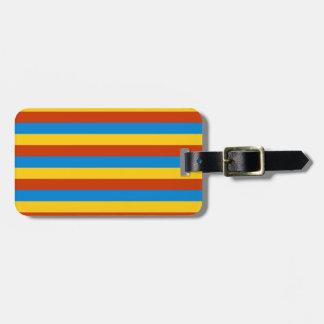Zaire flag stripes luggage tag