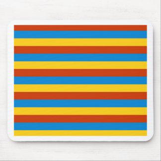 Zaire flag stripes mouse pad