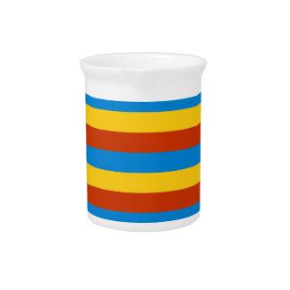 Zaire flag stripes pitcher
