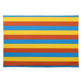 Zaire flag stripes placemat
