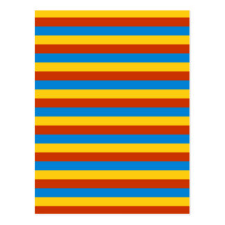 Zaire flag stripes postcard
