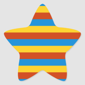Zaire flag stripes star sticker