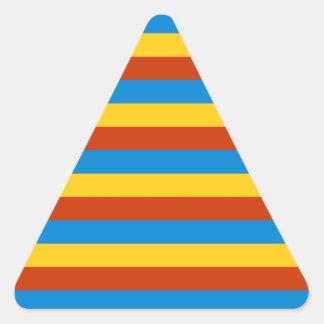 Zaire flag stripes triangle sticker