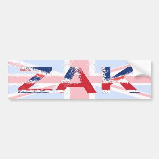 Zak Bumper Sticker