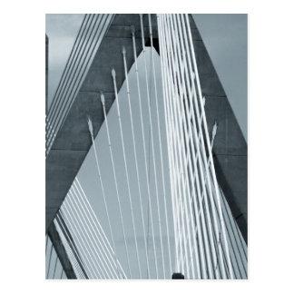 Zakim Bridge Boston Postcard