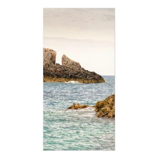Zakynthos capes custom photo card
