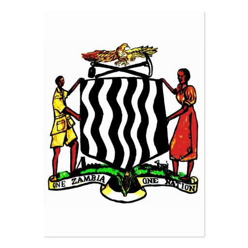 Zambia, Africa, Coat of Arms Business Card Templates