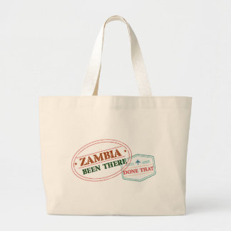 Zambia Been There Done That Large Tote Bag