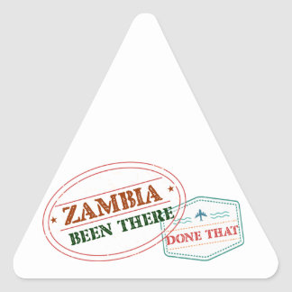 Zambia Been There Done That Triangle Sticker
