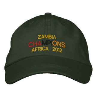 Zambia Champions Africa Cup of Nations 2012 Embroidered Hat