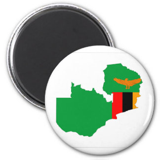 zambia country flag map shape symbol magnet