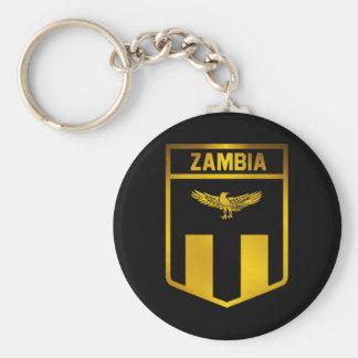 Zambia Emblem Keychain