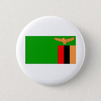 Zambia Flag 2 Inch Round Button