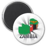 Zambia Flag Map 2.0