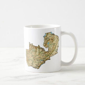 Zambia Flag ~ Map Mug