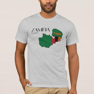 Zambia Flag Map Shirt