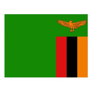 Zambia Flag Postcard