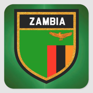Zambia Flag Square Sticker