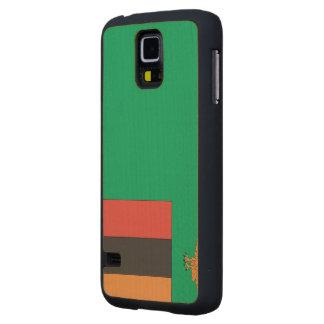 Zambia Flag Maple Galaxy S5 Case