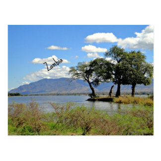 Zambia landscape postcard