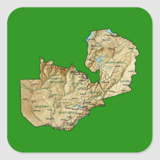 Zambia Map Sticker