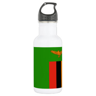 Zambia National World Flag 532 Ml Water Bottle